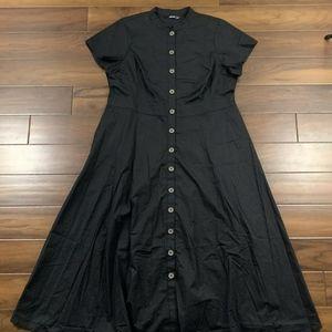 Eshakti Poplin Maxi Shirt Dress